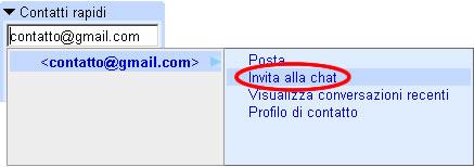 Aggiungere un contatto per chattare con gmail