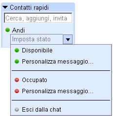 chat gmail status
