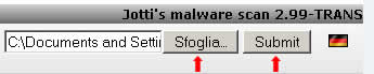 jotti malware scan upload