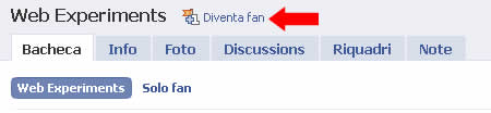 fan di web experiments su Facebook