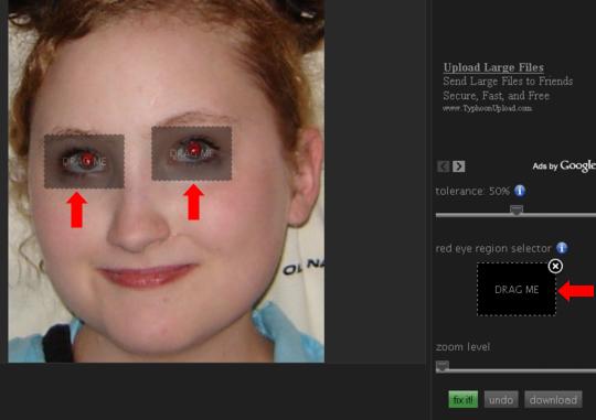 Rimozione occhi rossi