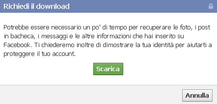Download backup Facebook