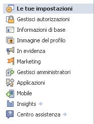 Facebook amministrazione pagina