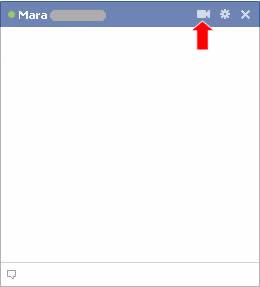Facebook videochat pulsante