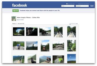 salvare foto facebook