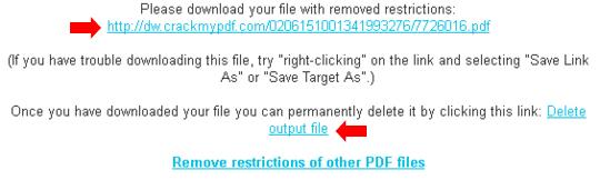 pdf senza protezioni