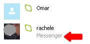 Contatti skype Live messenger