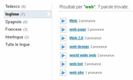 risultati ricerca pronuncia vocabolo