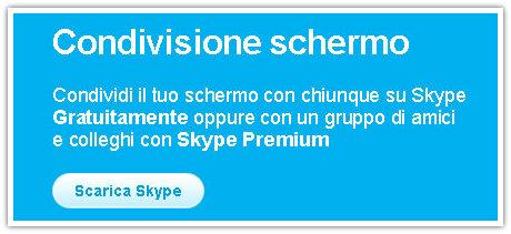 Skype condividere schermo