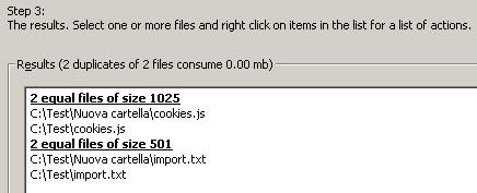 elenco file duplicati
