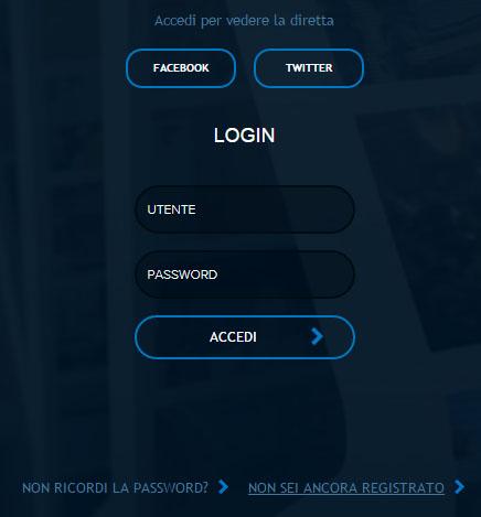 Registrazione sito Mediaset