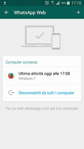 WhatsApp Web computer connessi